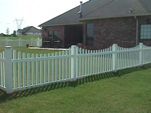 3.5&#039;-4&#039; Scalloped Picket Fence