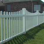 3.5'-4' Scalloped Picket Fence