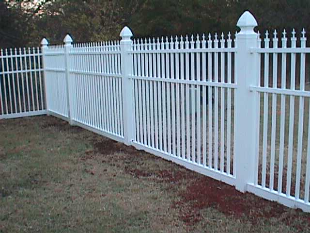 Vinyl decorative fence fencing