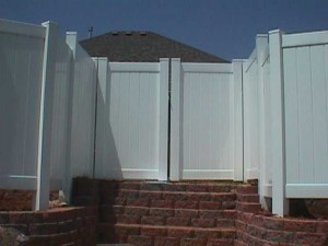 Privacy Fence with Double Gate