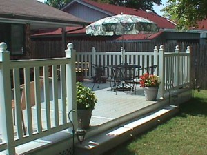Decking with Railing