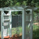 Flat Top Arbor with Scrolls