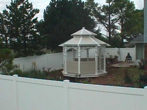 Grace Gazebo - 11' with Privacy fencing