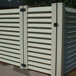 Vinyl Gates - Louvered ALMOND