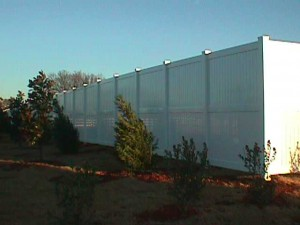 8' Panel Privacy Fence with Midrail