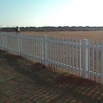 Wide Picket Fence with Dog Ear Caps
