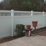 Panel Privacy Fence with CA Lattice