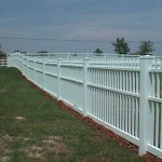 Straight Top Ornamental Picket Fence