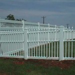 Straight Top Ornamental Picket with California Privacy Fence