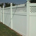 Panel Privacy Fence with Lattice