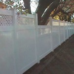 Customized Privacy Fence with Lattice