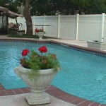 Pool Privacy Fence with Lattice