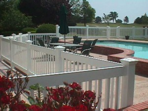 Universal Pool Fence with New England Caps