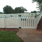 Pool Gate with Magna Latch and Self-Closing Hinges