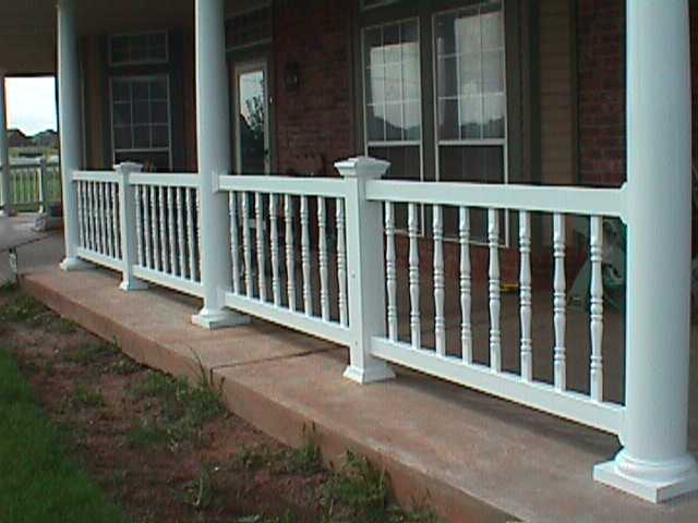 Porch Railing With 8 Midland Vinyl Products Oklahoma