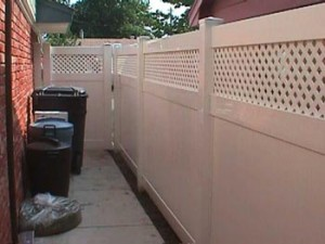 Trash Bin Container Fence - Inside