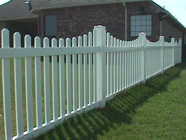 ′ scalloped picket fence midland vinyl products