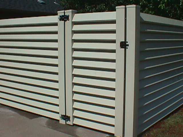 Vinyl Gates Louvered Almond Midland Vinyl Products